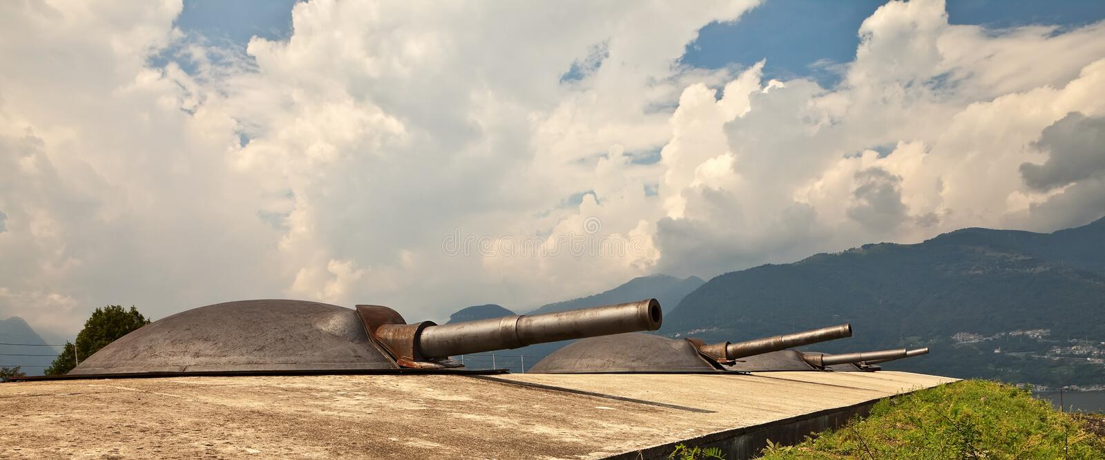 Download Artillery Turrets. Stock Photography - Image: 16923912