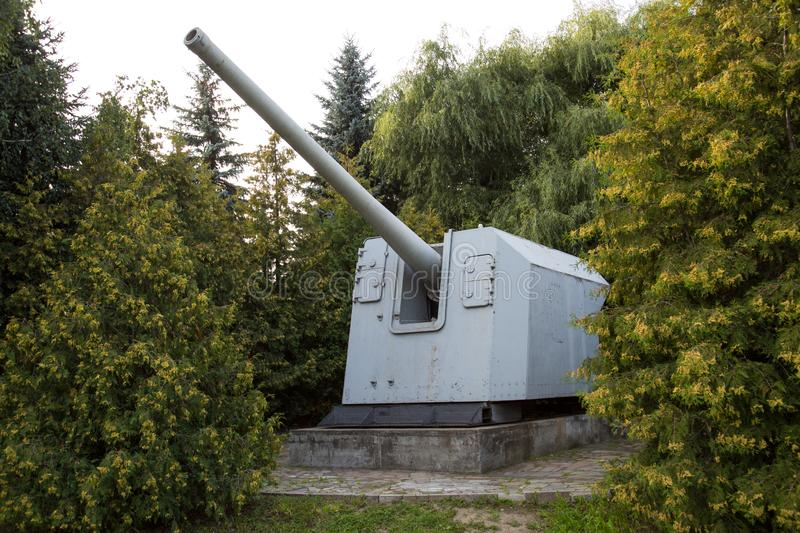 Artillery unit 152 mm, USSR. Military equipment. Of the Second world war royalty free stock photography