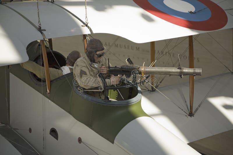 Artilleur de machine de Première Guerre Mondiale photographie stock