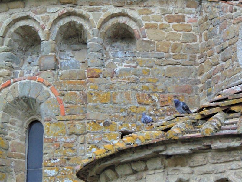 Artimino, Tuscany, W?ochy Farny kościół Santa Maria i San Leonardo w Artimino, Pieve Di San Leonardo, architektura szczegóły obrazy royalty free