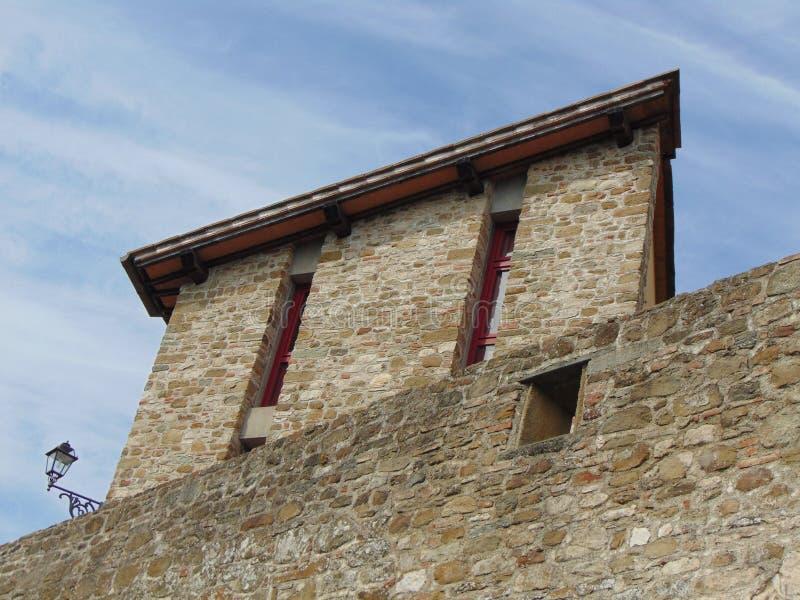 Artimino, Tuscany, W?ochy, widok antyczne ?redniowieczne miasto ?ciany zdjęcie royalty free