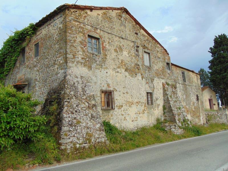 Artimino, Tuscany, W?ochy Widok stary historyczny budynek fotografia royalty free