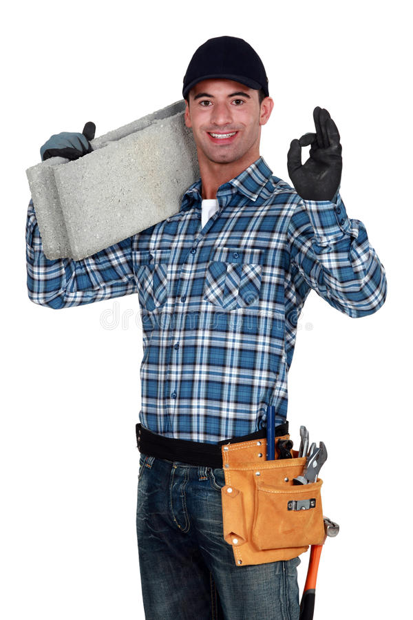 Download Artisan stock photo. Image of concrete, hammer, shoulder - 28297338