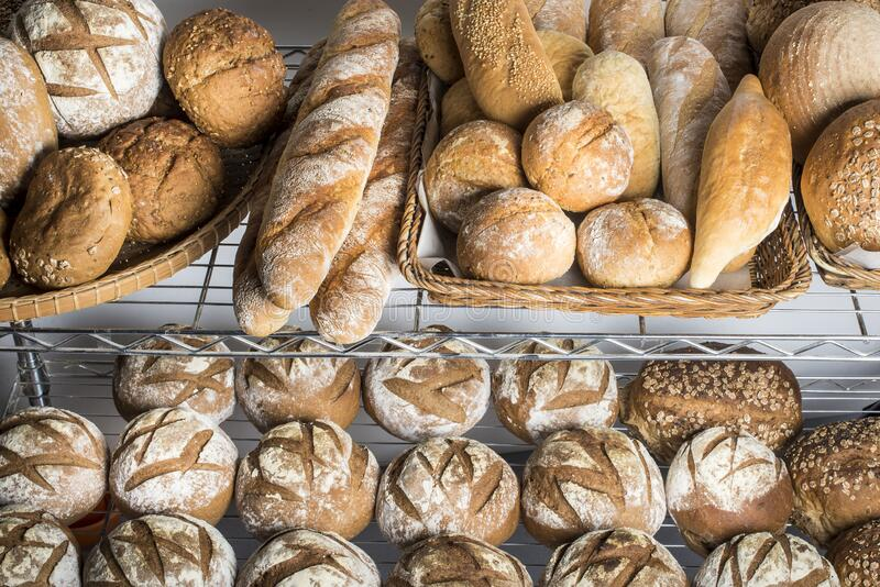 Artisan brown bread stock photo