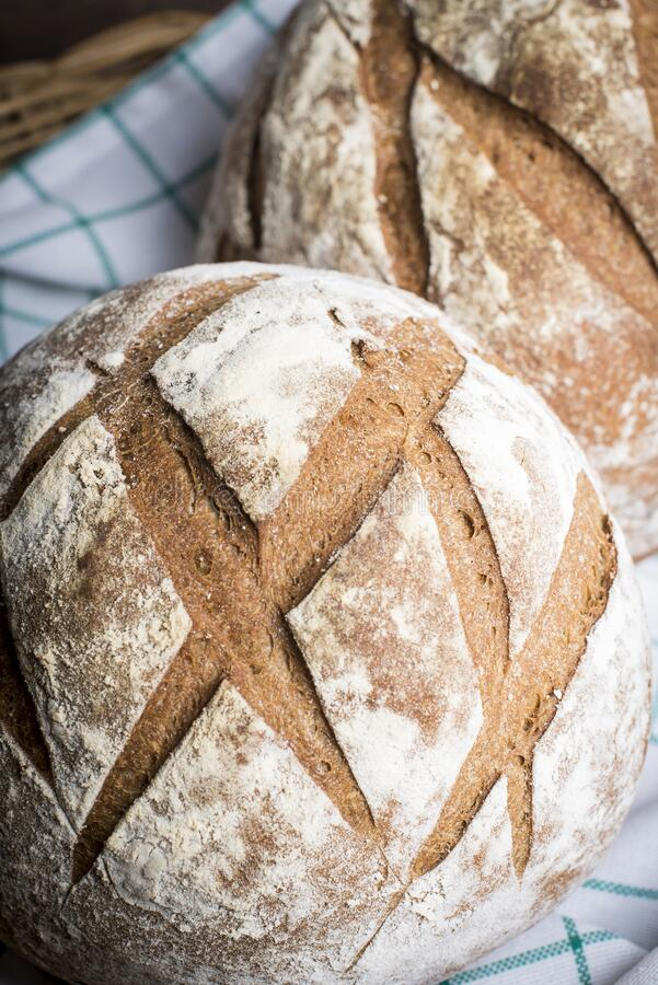 Artisan brown bread stock photos
