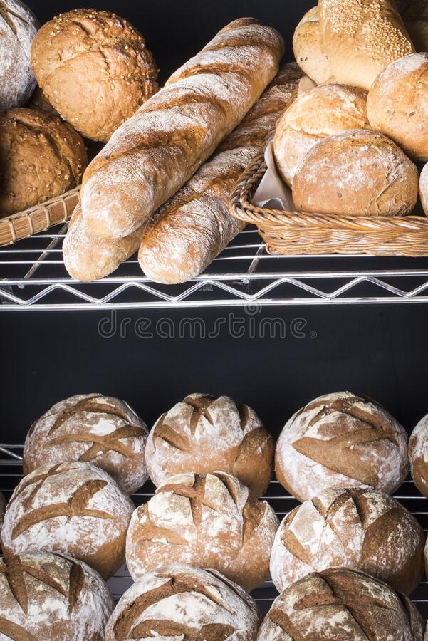 Artisan brown bread stock image