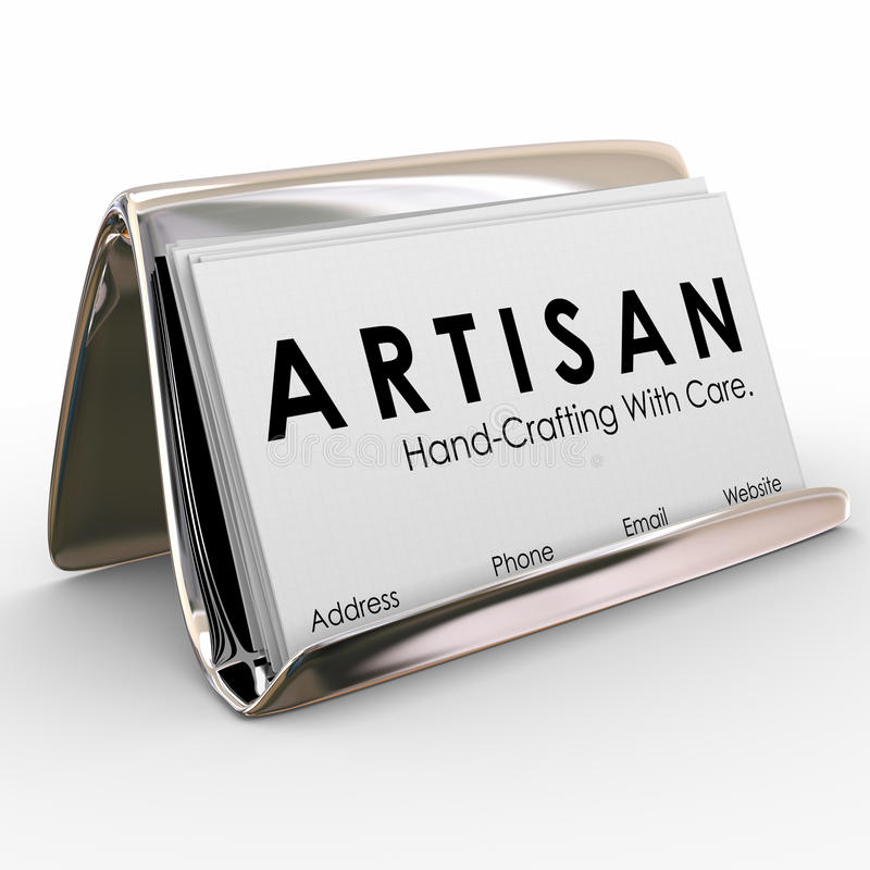 Artisan Business Card Holder Hand Crafting Made Products Stock ...