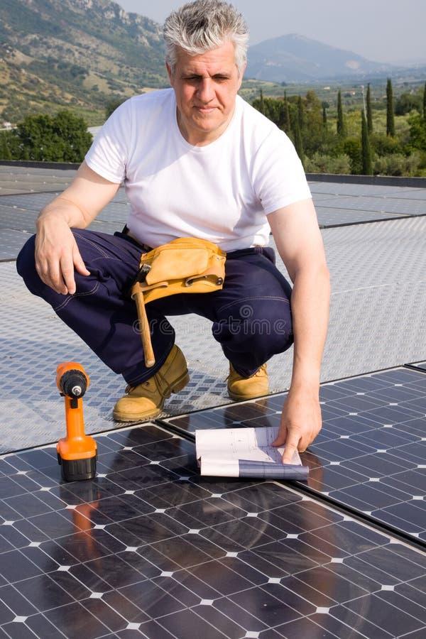 Artisan d'énergie de Sun image libre de droits