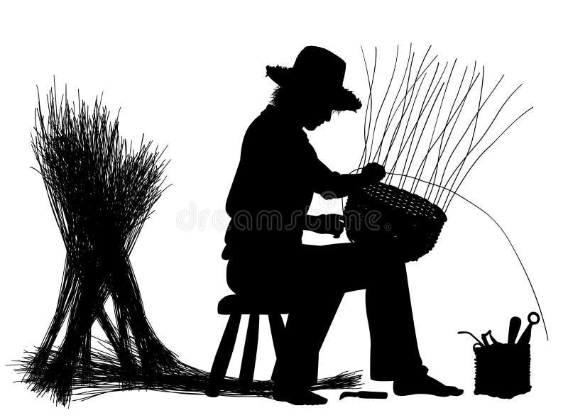 Artisan de vannerie illustration libre de droits