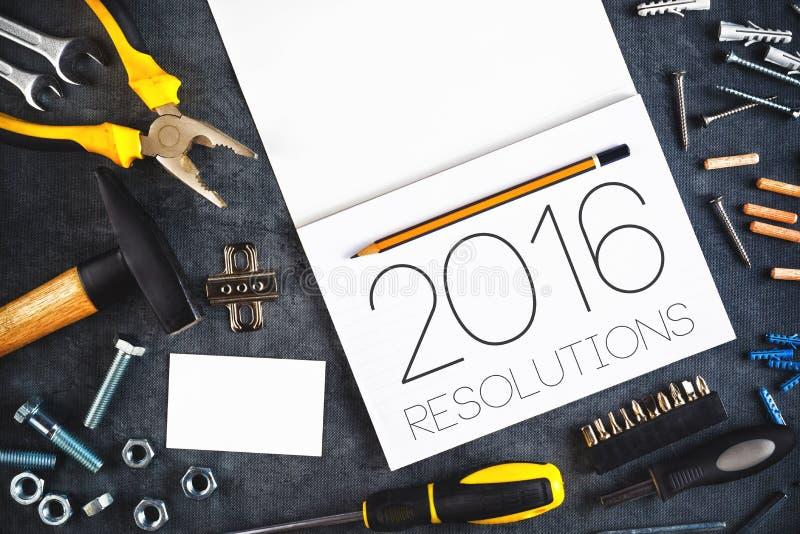 2016, artisan Workshop Concept de résolutions de nouvelle année images libres de droits