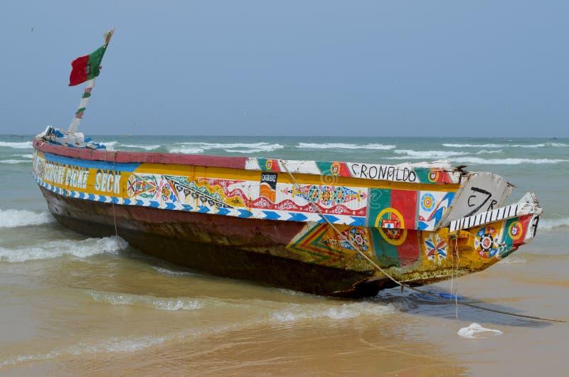 Artisanal fisheries in Senegal - Kayar/Cayar beach, north of Dakar. Kayar or Cayar is a small town in central Senegal, close to its capital Dakar. Most of Kayar` royalty free stock images