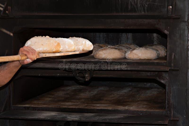 Artisanale bakker stock foto