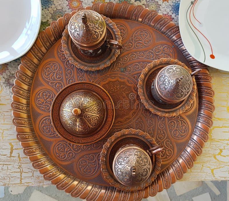 Artisanat turc traditionnel pour le café et le plaisir turc photographie stock libre de droits