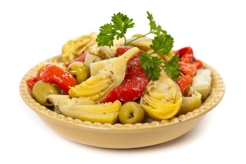 Artischocken-Salat stockbilder