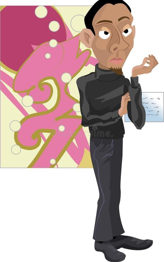 Artist vector illustration