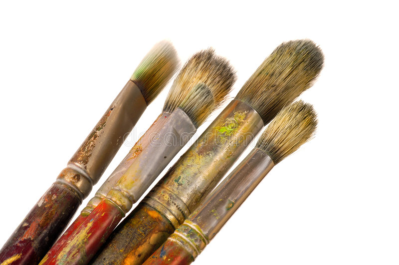 Artist Brushes royalty free stock photography