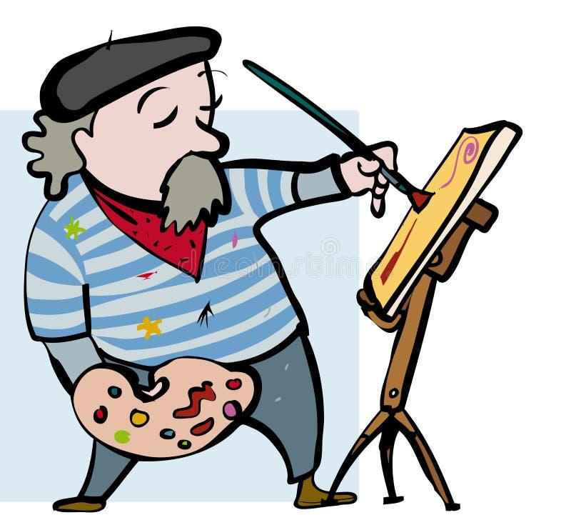 Artist cartoon бесплатная иллюстрация