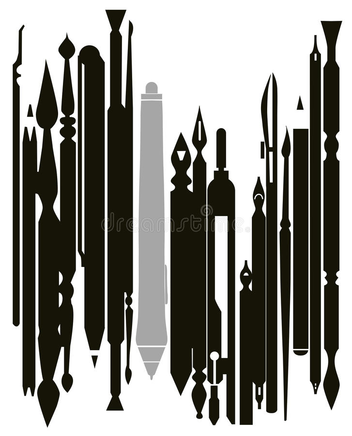 Artist And Designer Tools (vector Set) Royalty Free Stock Images