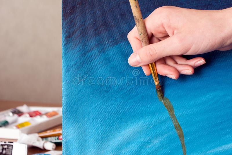 Artist drawing stock images