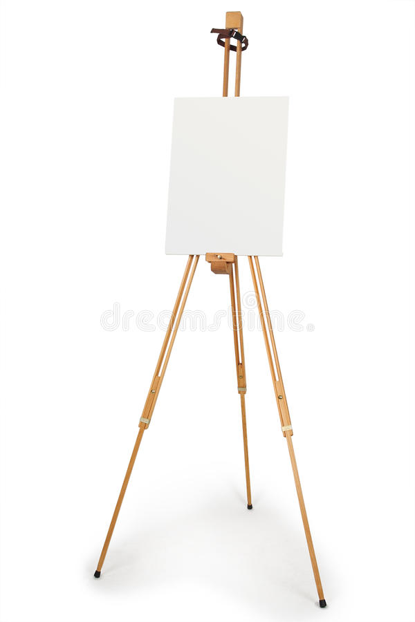 Free Artist Easel With Blank Canvas Stock Photos - 18114483