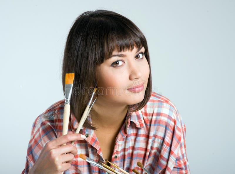 Artist-girl stock photo