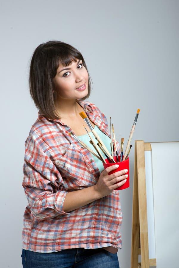 Artist-girl stock images