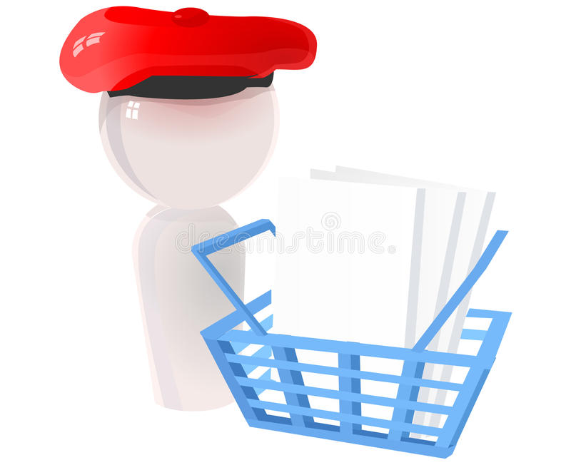 Artist Icon With Checkout Basket Royalty Free Stock Photography