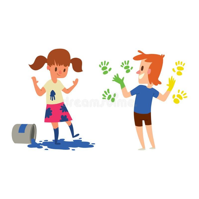 artist kids children vector set stock vector illustration of