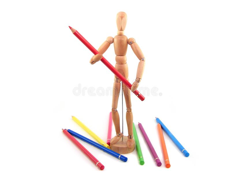 Download Artist Mannequin stock image. Image of artistic, drawing - 9543455