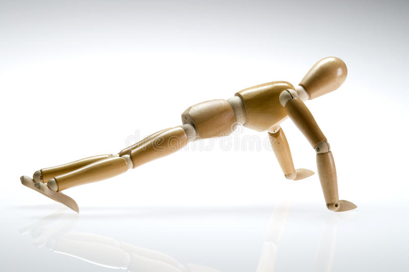 Download Artist Mannequin Pushup Royalty Free Stock Photos - Image: 10307988
