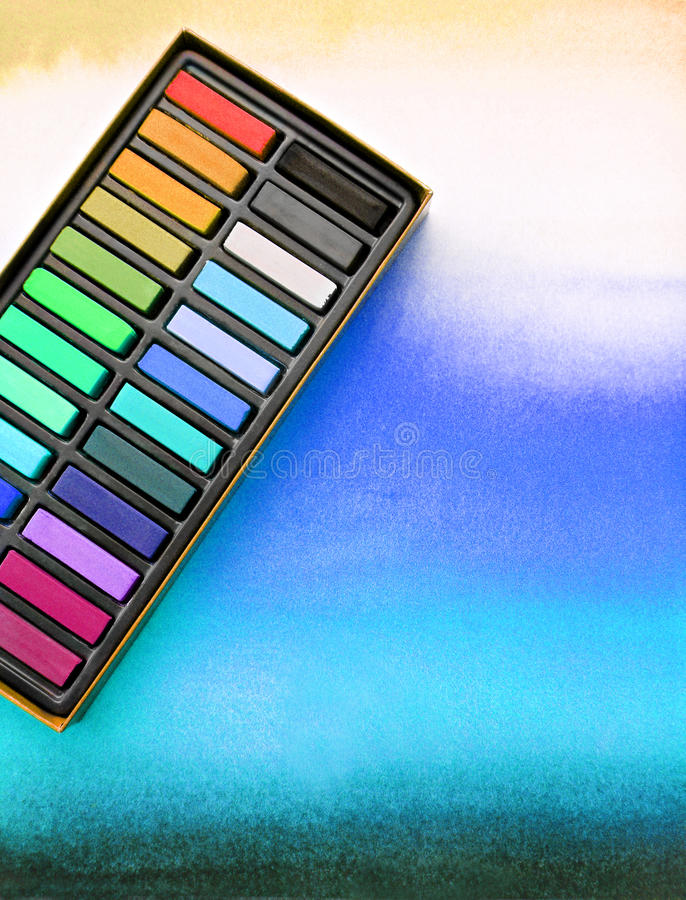 Free Artist Media, Chalk Pastels On Watercolor Wash Royalty Free Stock Image - 13269656