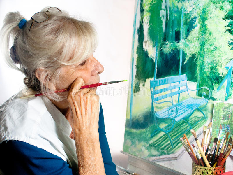 Artist Painting royalty free stock image