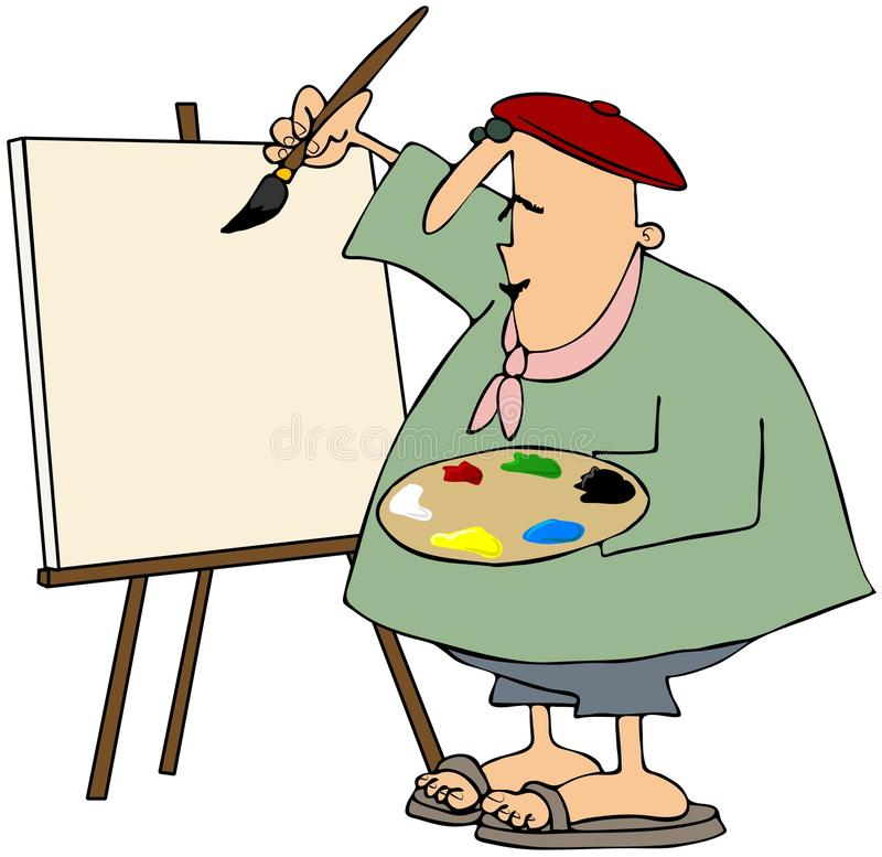 Download Artist Painting On A Blank Canvas Stock Illustration - Image: 23280462