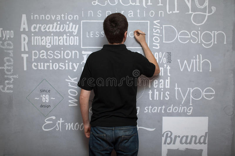 Download Artist painting fonts stock photo. Image of painter, paintbrush - 31012908