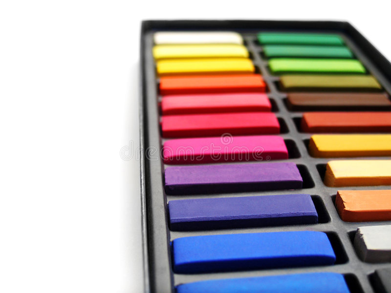 Artist Pastels In Box Royalty Free Stock Photo