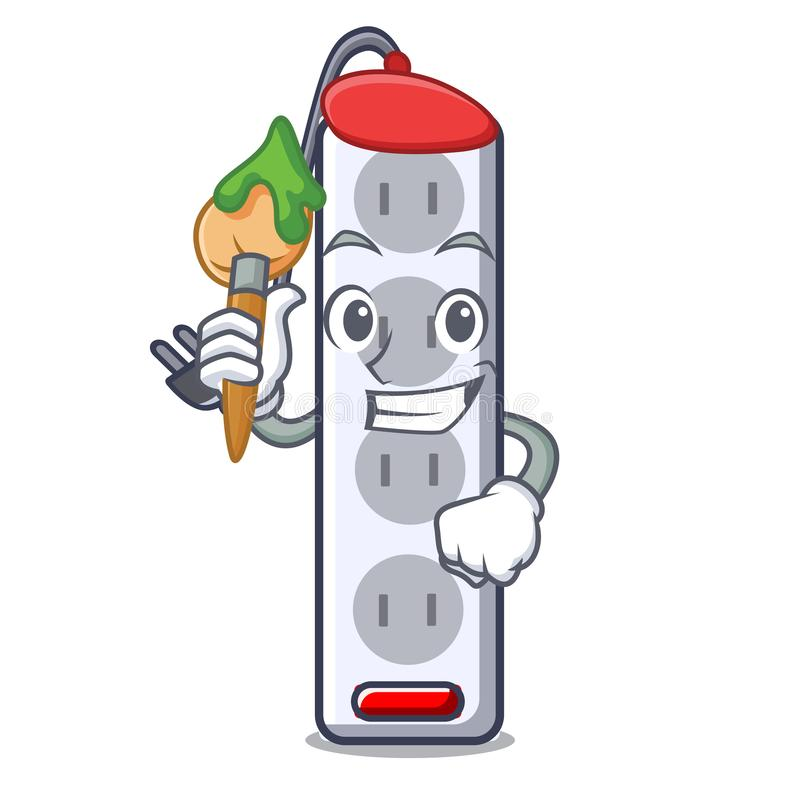 Artist power strip in the character shape. Vector illustration royalty free illustration