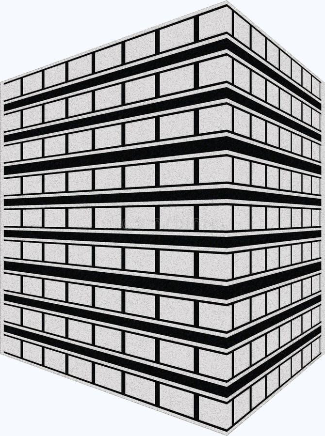 Artist Rendering Office Building royalty free illustration