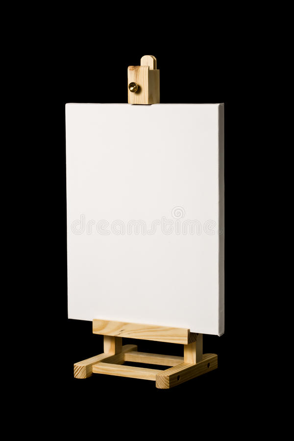 Download Artist's Canvas On Easel Isolated On Black Stock Image - Image: 11634091