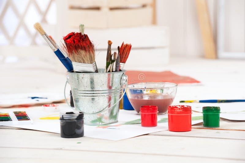 Artist's workshop stock photos