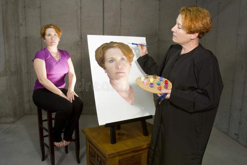 Artist Self Portrait stock image