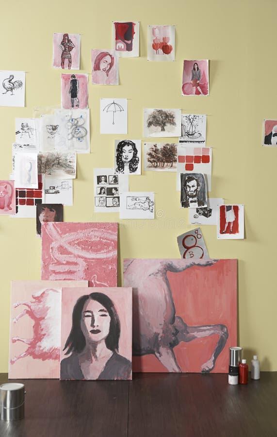 Free Artist Studio Wall Stock Photography - 6574942