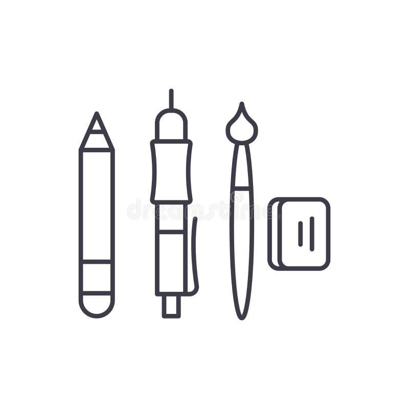 Design Tools Linear Icon Concept  Design Tools Line Vector