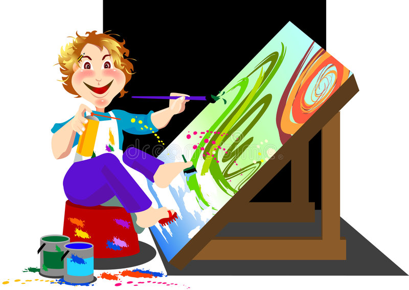Artista stock de ilustración