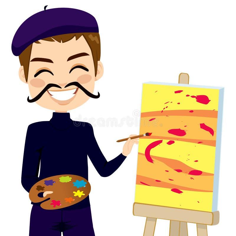 Artista abstrato engraçado ilustração stock