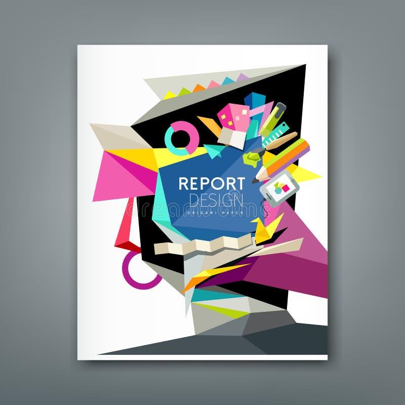 Artista abstrato geométrico do informe anual ilustração stock