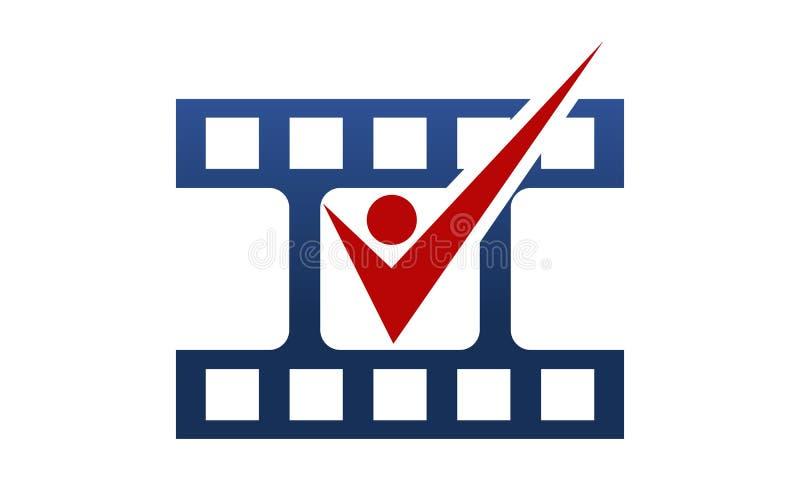 Artista Cinema Template de la audición stock de ilustración