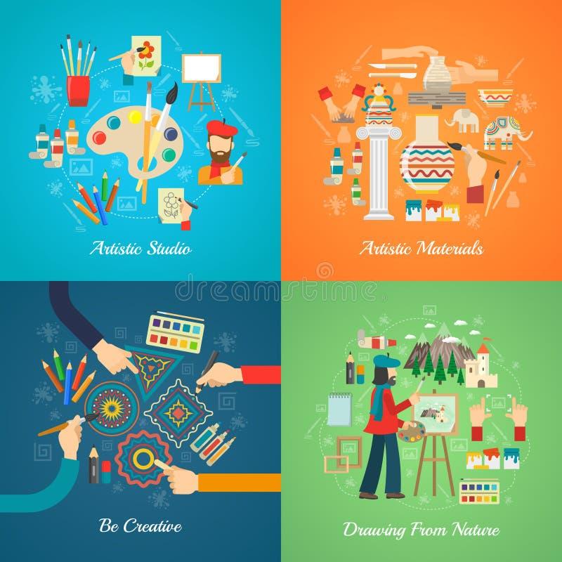 Artista Concept Set libre illustration