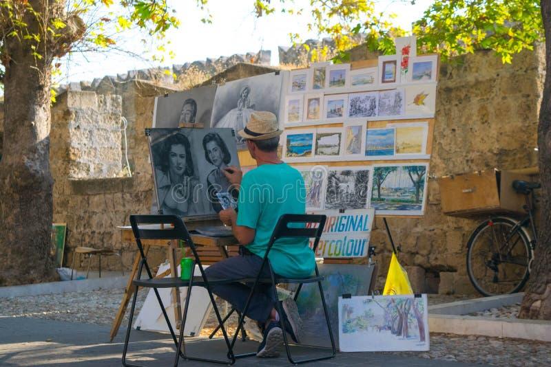 Artista da rua no trabalho foto de stock royalty free