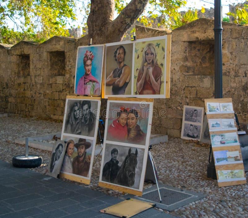 Artista de la calle en trabajo foto de archivo