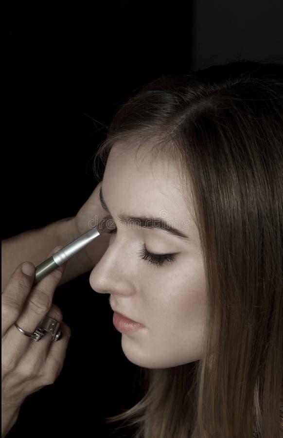 Artista de maquillaje foto de archivo